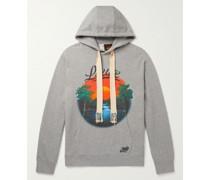 + Paula's Ibiza Printed Mélange Loopback Cotton-Jersey Hoodie