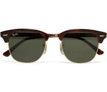 Clubmaster Acetate And Gold-tone Sunglasses