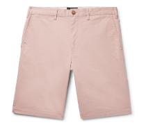 Slim-fit Cotton-blend Twill Shorts