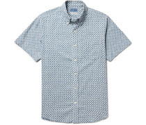 Button-down Collar Printed Cotton Shirt