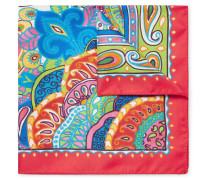 Paisley-print Silk-twill Pocket Square