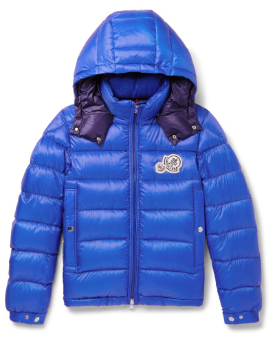 Slim-Fit Quilted Shell Hooded Down Jacket