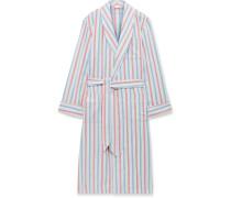 Kelburn Striped Brushed Cotton Robe