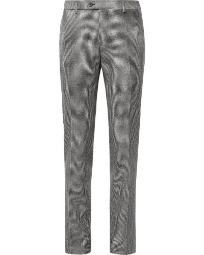 Slim-Fit Puppytooth Wool Suit Trousers