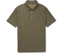 Cotton And Silk-blend Piqué Polo Shirt