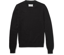 Contrast-trimmed Cotton Sweater