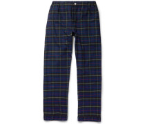Marcel Checked Cotton-flannel Pyjama Trousers