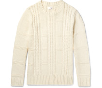 Cable-knit Wool And Cotton-blend Sweater