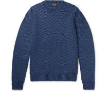 Basketweave Merino Wool Sweater