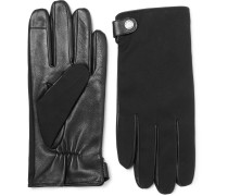 Harios Gabardine And Leather Gloves