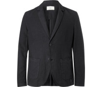 Unstructured Linen And Cotton-blend Blazer