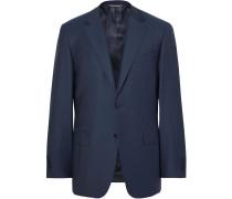 Storm-blue Slim-fit Water-resistant Super 130s Wool Suit Jacket