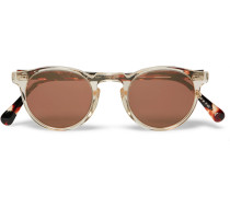 Gregory Peck Round-frame Acetate Sunglasses
