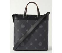 Passenger Leather-Trimmed Logo-Print Canvas Tote Bag