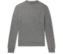 Slim-Fit Mélange Cashmere Sweater