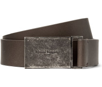 3cm Grey Leather Belt