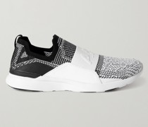 Bliss Rubber-Trimmed TechLoom Running Sneakers