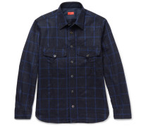 Checked Wool And Cashmere-blend Shirt