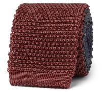 5cm Tri-tone Knitted Silk Tie