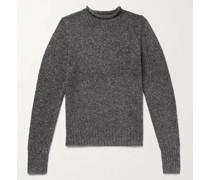 Slim-Fit Mélange Merino Wool-Blend Sweater