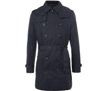 Brit Cotton-gabardine Hooded Trench Coat
