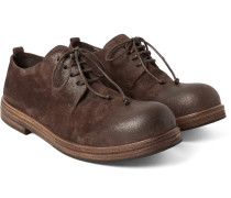 Washed-suede Derby Shoes