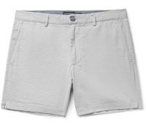 Jax Slim-Fit Stretch-Cotton Seersucker Shorts