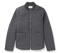 Bastian Quilted Shell Bomber Jacket