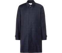 Svalbard Checked Storm System Wool Coat