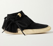 Gila Shaman Coyote-Folk Fringed Suede High-Top Sneakers