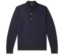 Panelled Wool Polo Shirt