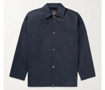Spring Swallows Embroidered Cotton-Twill Jacket