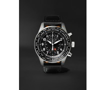 Pilot's Timezoner Automatic Chronograph 46mm Stainless Steel and Leather Watch, Ref. No. IW395001