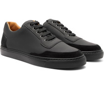 Mr Jones Suede-trimmed Rubberised-leather Sneakers