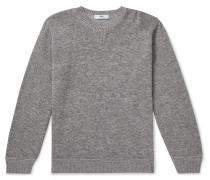 Mélange Merino Wool, Alpaca and Silk-Blend Sweater