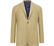 Virgil No. 2 Slim-Fit Garment-Dyed Cotton and Wool-Blend Hopsack Blazer