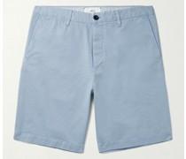 Garment-Dyed Cotton-Twill Bermuda Shorts
