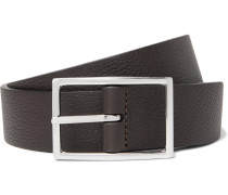 3cm Black and Dark-Brown Reversible Leather Belt