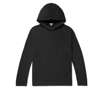 Brushed Cotton-Blend Jersey Hoodie