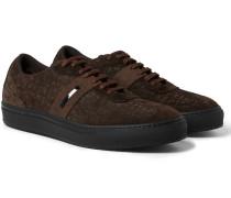 Nubuck-trimmed Suede Sneakers