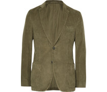 Olive Slim-fit Cotton-corduroy Blazer