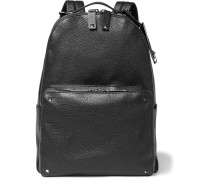Studded Full-grain Leather Backpack