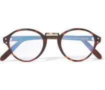Round-frame Acetate And Burnished Gold-tone Optical Glasses