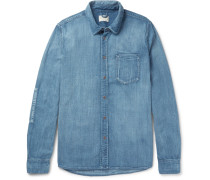 Henry Slim-fit Organic Denim Shirt