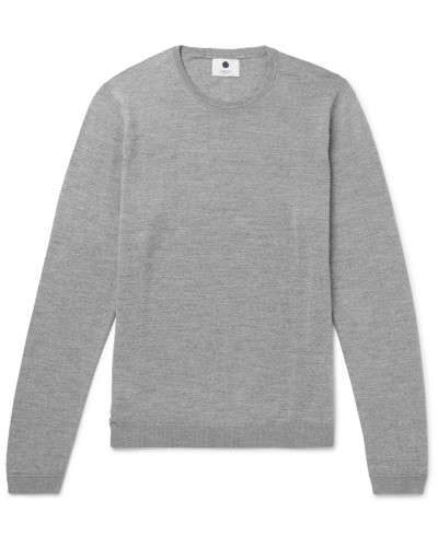 Barca Mélange Merino Wool Sweater - Gray