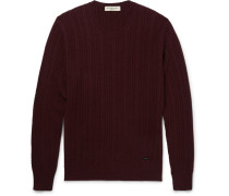 London Slim-fit Cable-knit Cashmere Sweater