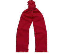 Super Wish Fringed Virgin Wool-twill Scarf