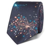 Firework-print Silk-twill Tie