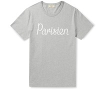 Printed Mélange Cotton-Jersey T-Shirt