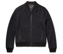 Reversible Stretch-wool Bomber Jacket